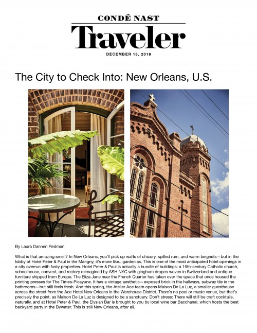 The City to Check Into: New Orleans, U.S.