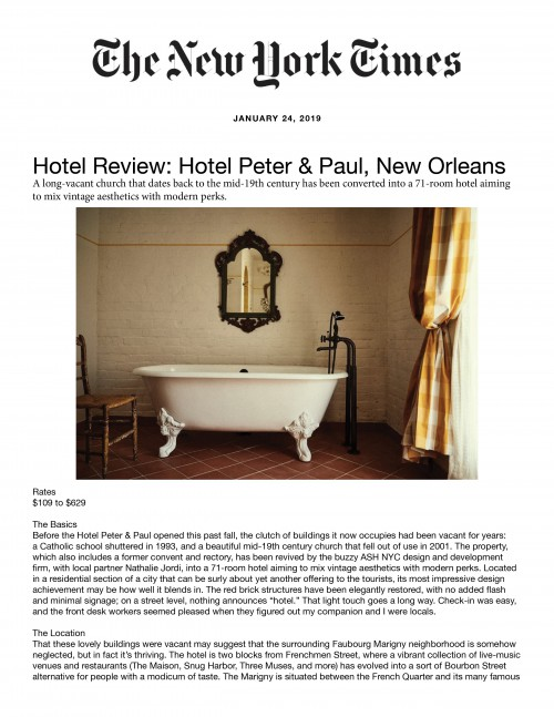 Hotel Review: Hotel Peter & Paul, New Orleans